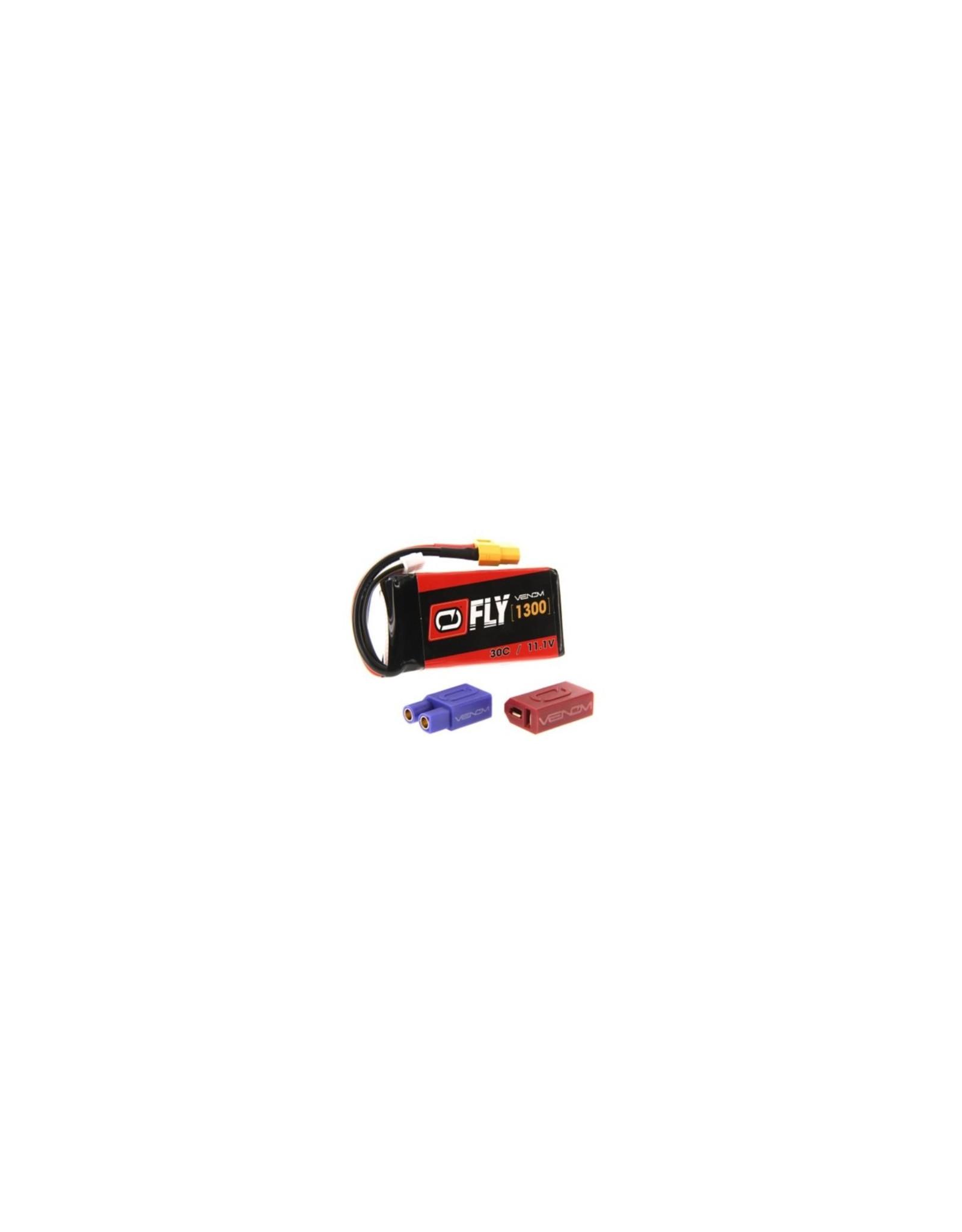 Venom Racing VNR25028 - 11.1V 1300mAh 3S 30C FLY LiPo Battery: UNI 2.0 Plug
