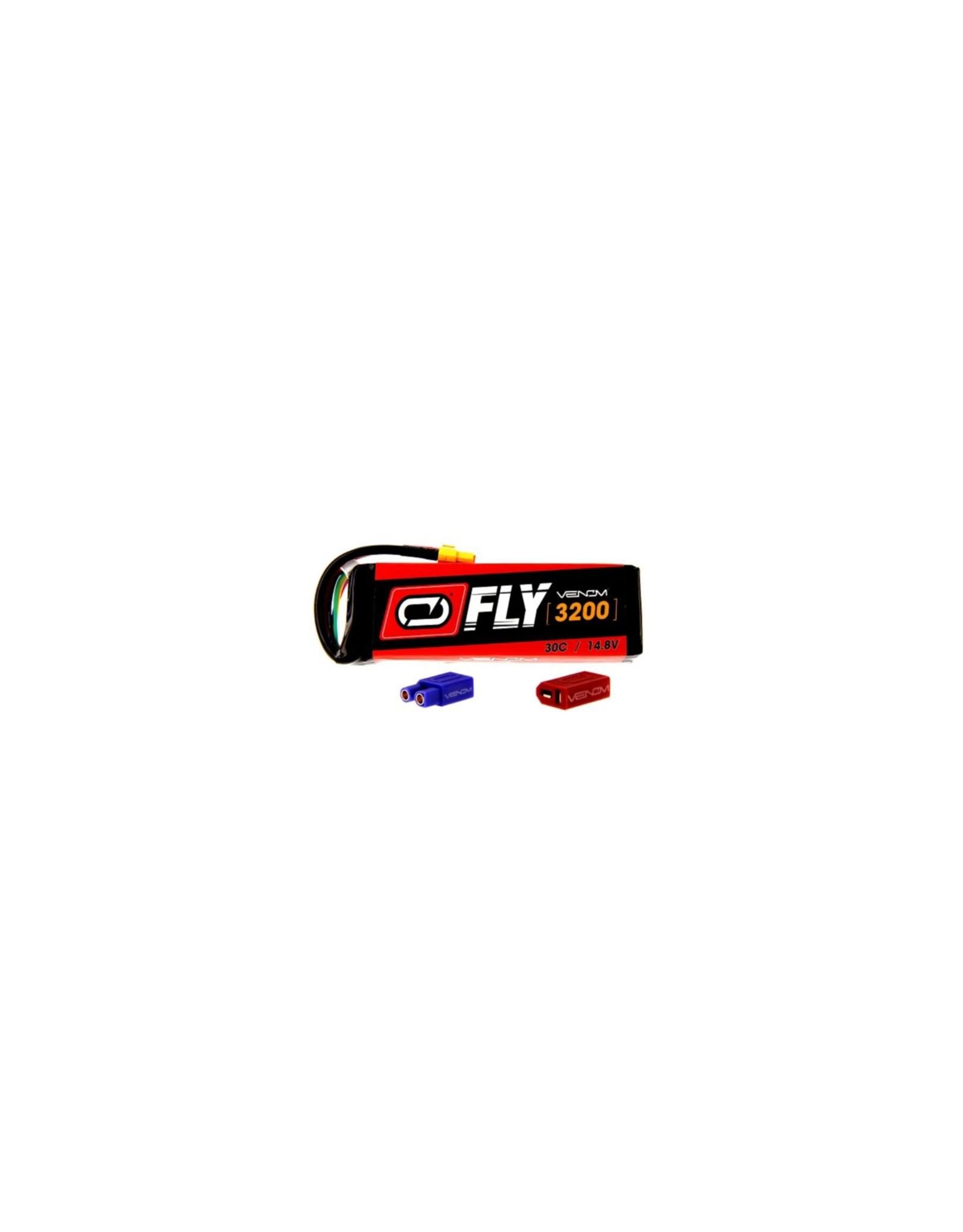 Venom Racing VNR25013 - 14.8V 3200mAh 4S 30C FLY LiPo Battery: UNI 2.0 Plug