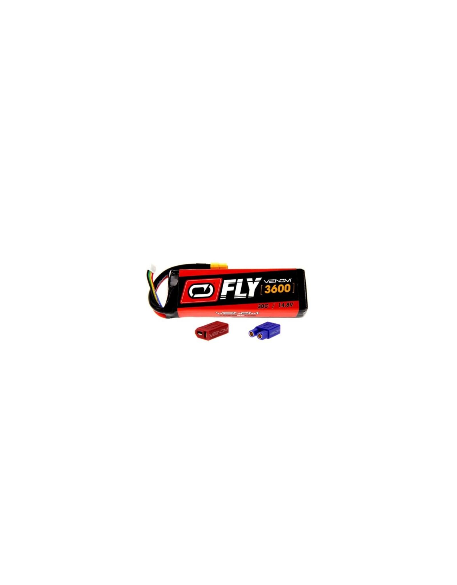 Venom Racing VNR25016 - 14.8V 3600mAh 4S 30C FLY LiPo Battery: UNI 2.0 Plug