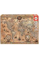 Educa Antique World Map  - 1000 Piece Puzzle
