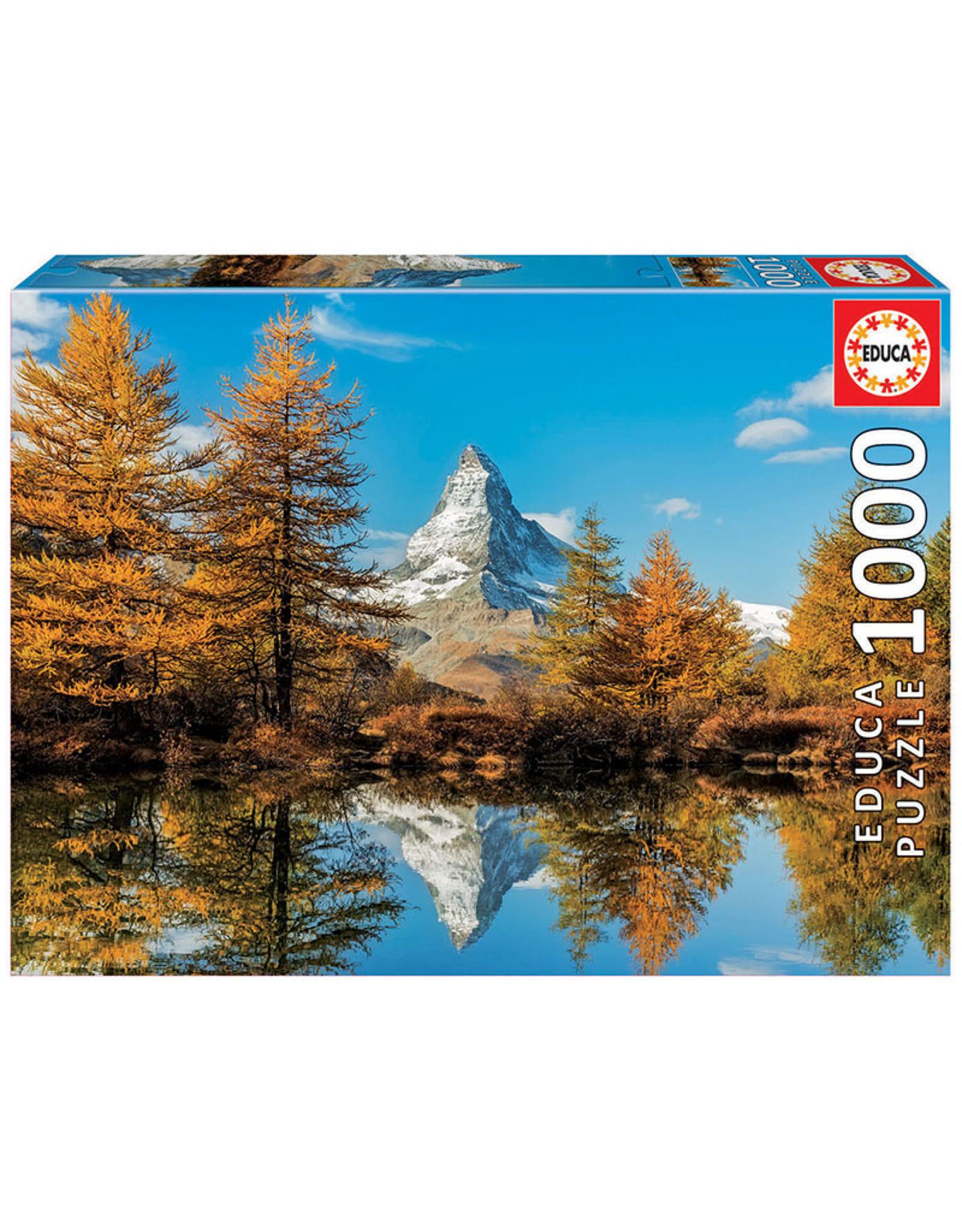 Educa Matterhorn Mountain in Autumn - 1000 Piece Puzzle