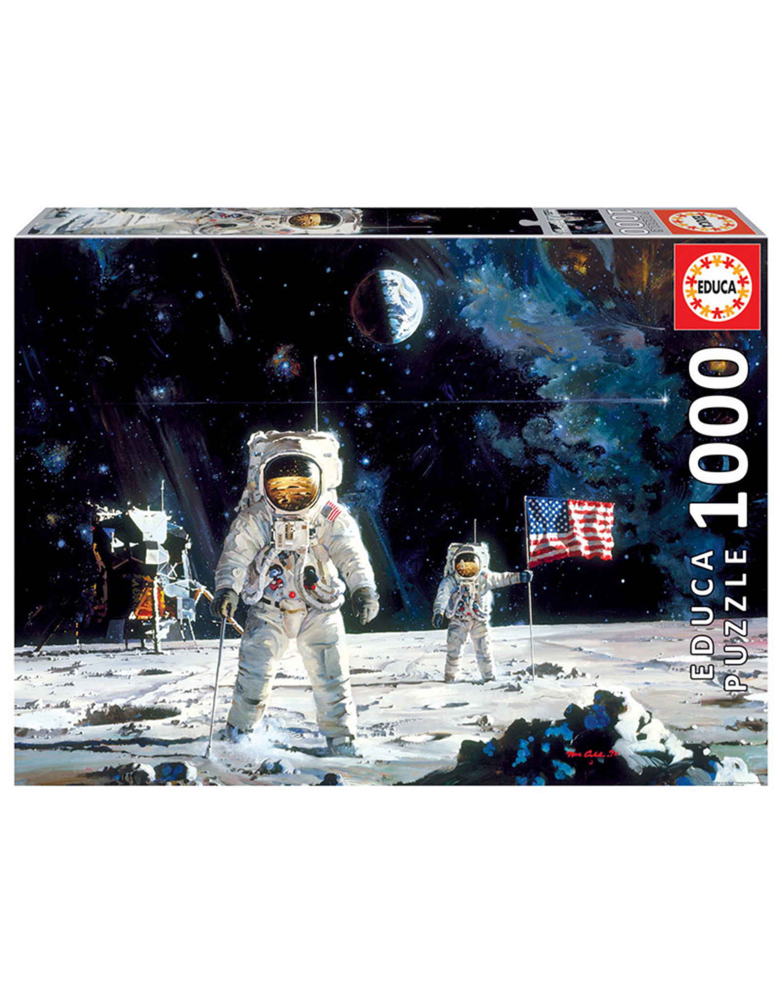 Educa First Men on the Moon - 1000 Piece Puzzle