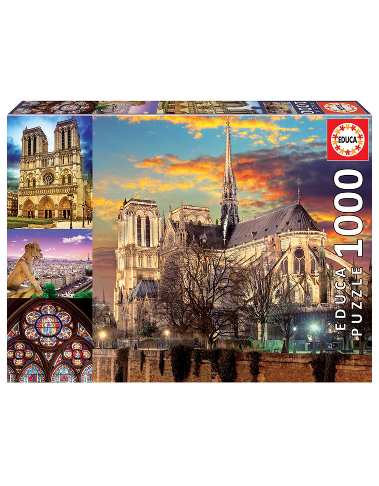 Educa Notre Dame Collage - 1000 Piece Puzzle
