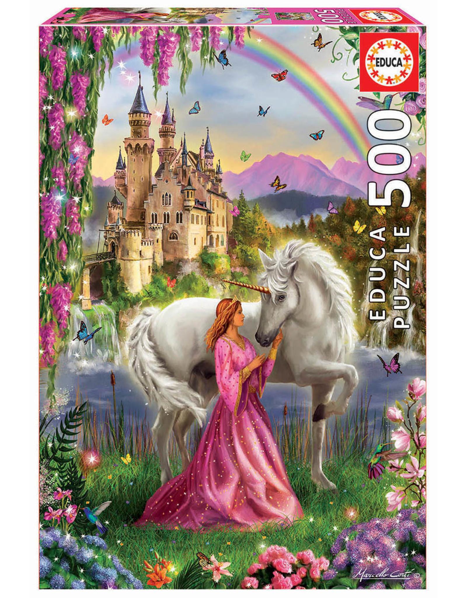 Educa Fairy and Unicorn - 500 Piece Puzzle