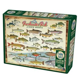 Cobble Hill Fresh Water Fish of North America - 1000 Piece Puzzle