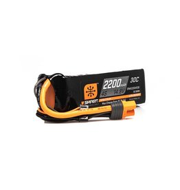 Spektrum SPMX22004S30 - 14.8V 2200mAh 4S 30C Smart LiPo Battery: IC3