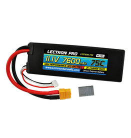 Common Sense RC 3S7600-75X - 11.1V 7600mAh 75C Lipo Battery with XT60 Connector + CSRC Adapter