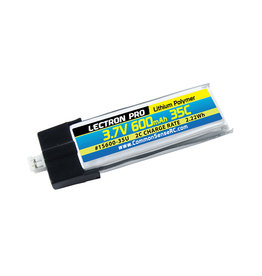 Common Sense RC 1S600-35U - 3.7V 600mAh 35C Lipo Battery with UMX Connector