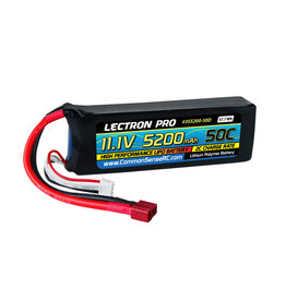 Common Sense RC 3S5200-50D - 11.1V 5200mAh 50C Lipo Battery with Deans-Type Connector