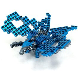 Metomics Series 002 - Azure Blue - Metal Building Block 3-n-1 Set (Butterfly, Deer, Gecko)