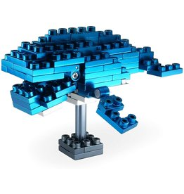 Metomics Wild Animals Series 001 - Blue Whale - Pocket Metal Building Block Set
