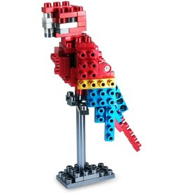 Metomics Wild Animals Series 001 - Red Macaw - Pocket Metal Building Block Set