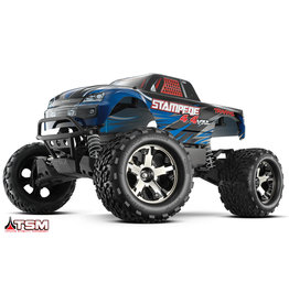 Traxxas 1/10 Stampede 4X4 VXL RTR Brushless 4WD Monster Truck - Blue