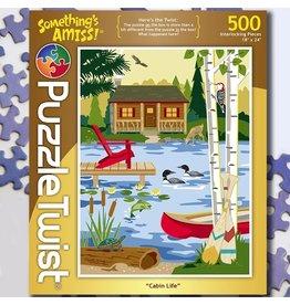 Puzzle Twist Cabin Life - 500 Piece Puzzle