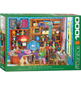 Eurographics All You Knit is Love - 1000 Piece Puzzle
