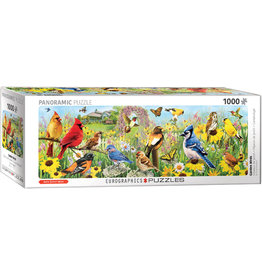 Eurographics Garden Birds - 1000 Piece Panoramic Puzzle