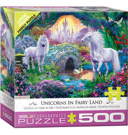Eurographics Unicorns in Fairy Land - 500 Piece Puzzle