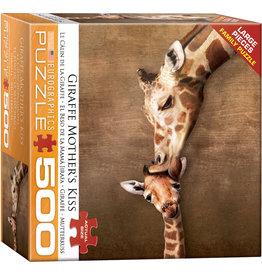 Eurographics Giraffe Mother's Kiss - 500 Piece Puzzle