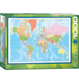 Eurographics Modern Map of the World - 1000 Piece Puzzle