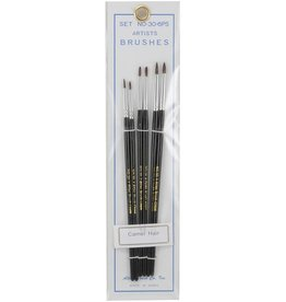 Atlas Brush Co. 30-6PS - Detail Camel Hair 6 Piece Brush Set