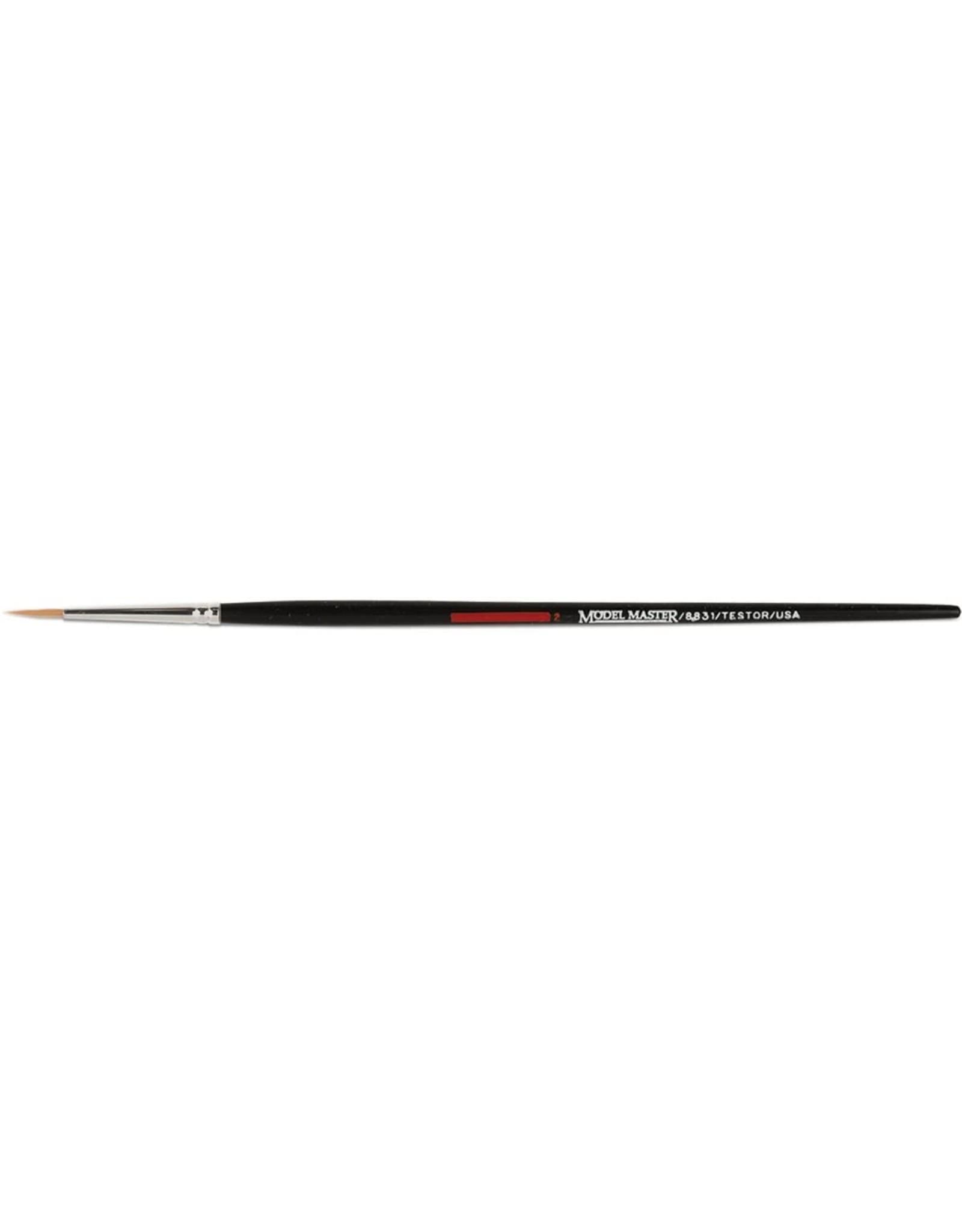 Testors 8831C - Golden Synthetic Round Brush #2
