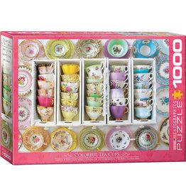 Eurographics Colorful Tea Cups - 1000 Piece Puzzle