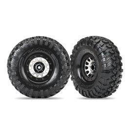 """Traxxas 8172 - Method 105 2.2"""" Black Chrome Beadlock Wheels / Canyon Trail 5.3x2.2"""" Tires"""