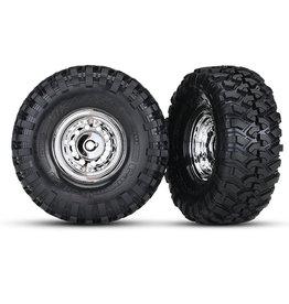 "Traxxas 8177 - 1.9"" Chrome Wheels / Canyon Trail 4.6x1.9"" Tires"