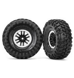 """Traxxas 8272X - TRX-4® 1.9"""" Satin Beadlock Wheels / Canyon Trail 4.6x1.9"""" Tires"""