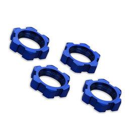 Traxxas 7758 - Wheel Nuts, Splined 17mm Serrated - Blue