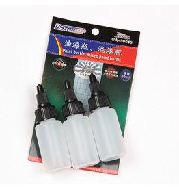 Ustar UA-90045 - Paint Mixing Bottle with Dropper & Steel Ball 30ml (3 pcs)