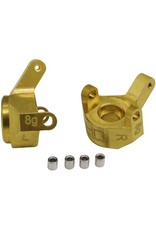 Hot Racing HRASXTF21H - Brass Front Steering Knuckle: SCX24