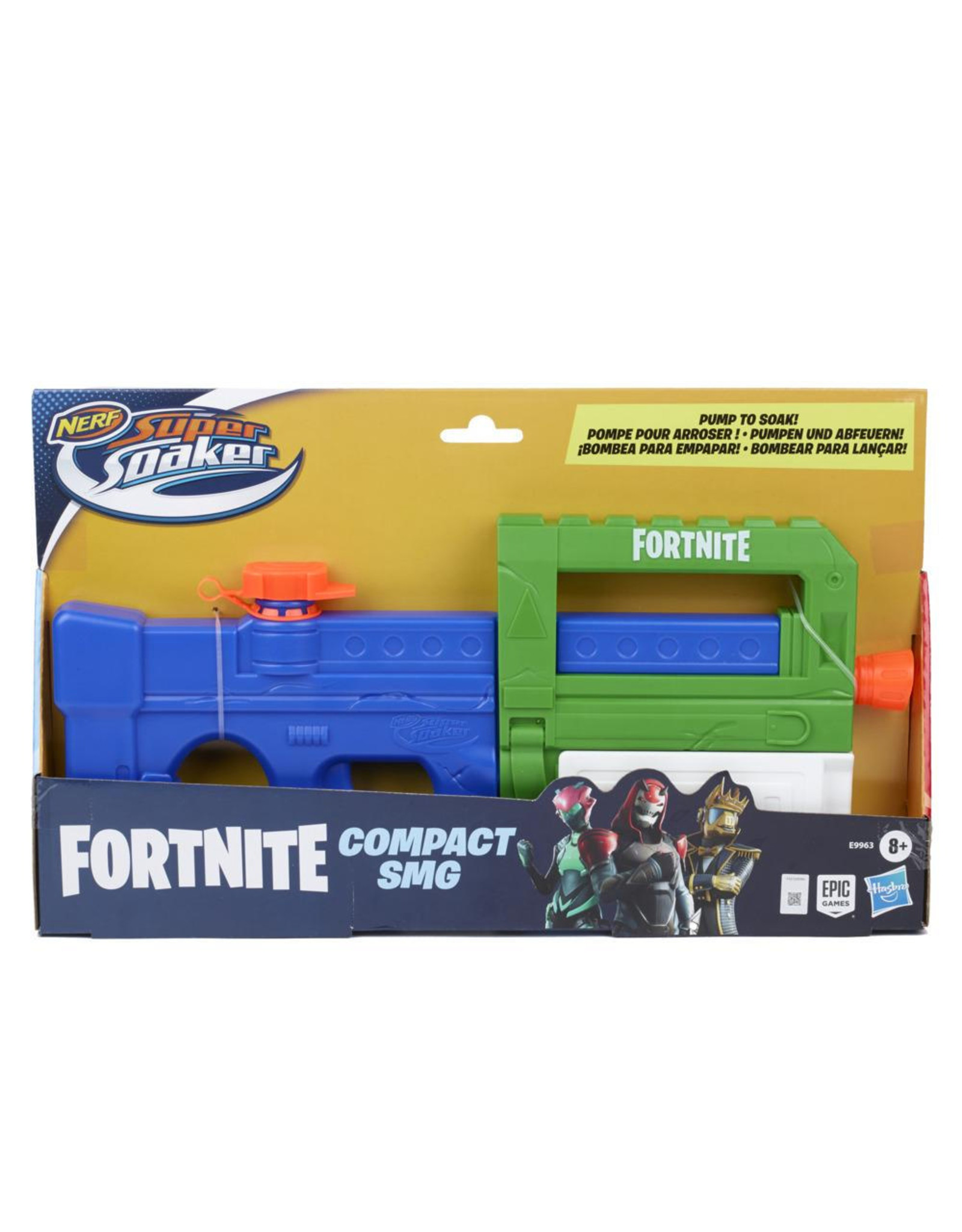 Hasbro Nerf: Super Soaker Fortnite - Compact SMG Water Blaster