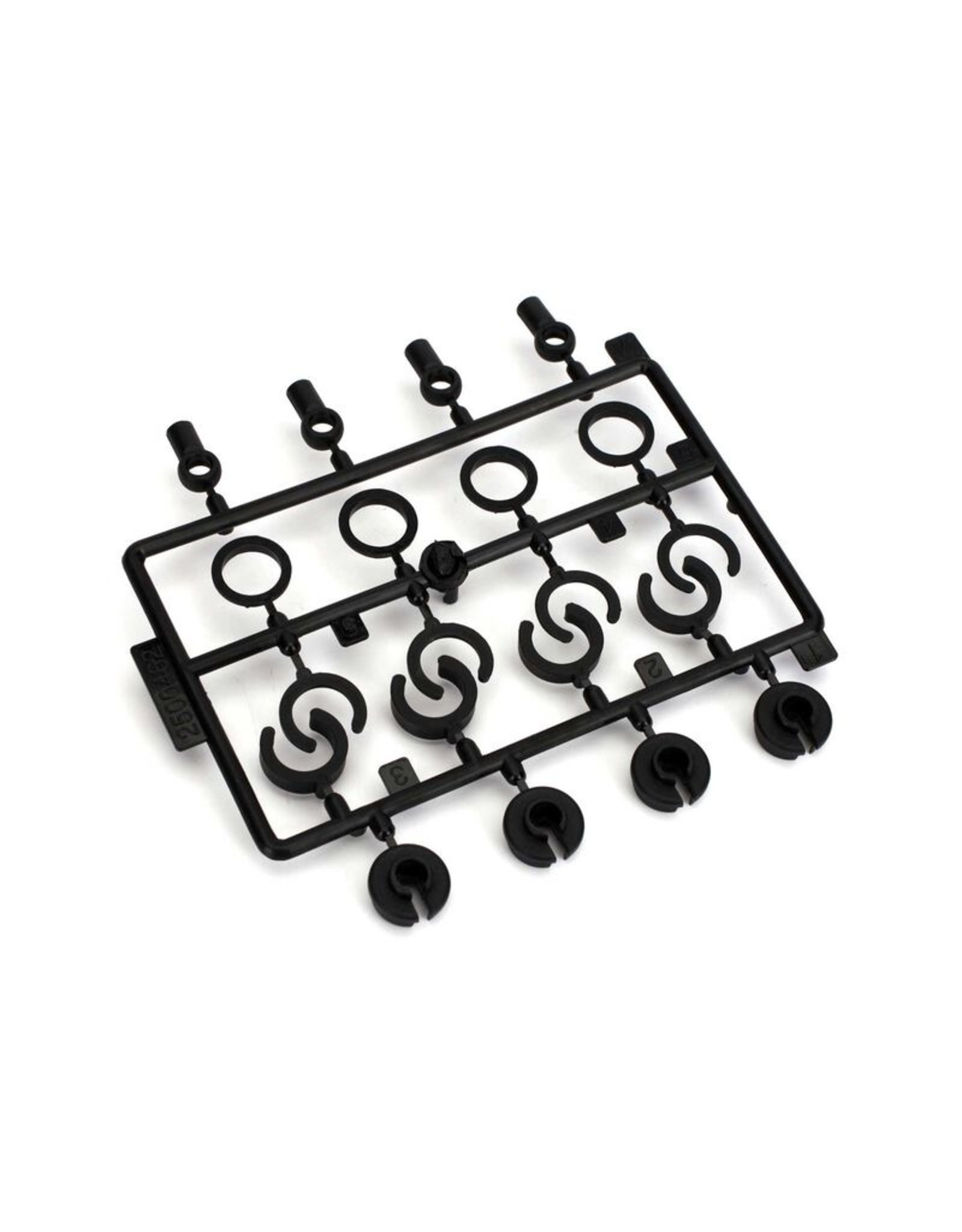 ECX 1038 - Shock End, Spring Cup, Spring Clip Set: All ECX 1/10 2WD