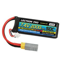 Common Sense RC 2S2000-50X - 7.4V 2000 50c XT60/Traxxas Adapter
