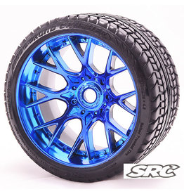 SWEEP C1001BC - MT Road Crusher Tire Blue Chrome