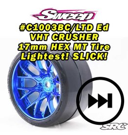 SWEEP C1003BC - MT Road Crusher Slick Tire Blue Chrome