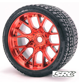 SWEEP C1001R - MT Road Crusher Tire Red Chrome