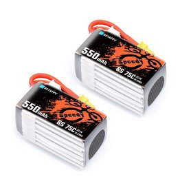 BetaFPV 550mAh 6S 75C Lipo Battery - 2 Pack