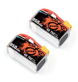 BetaFPV 850mAh 4S 75C Lipo Battery - 2 Pack