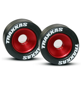 Traxxas 5186 - Machined Aluminum Ball Bearing Wheels with Rubber Tires - Red