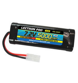 Common Sense RC N6-5000Y - 7.2 V NiMH 5000mAh 6-Cell Flat Pack with Tamiya Connector