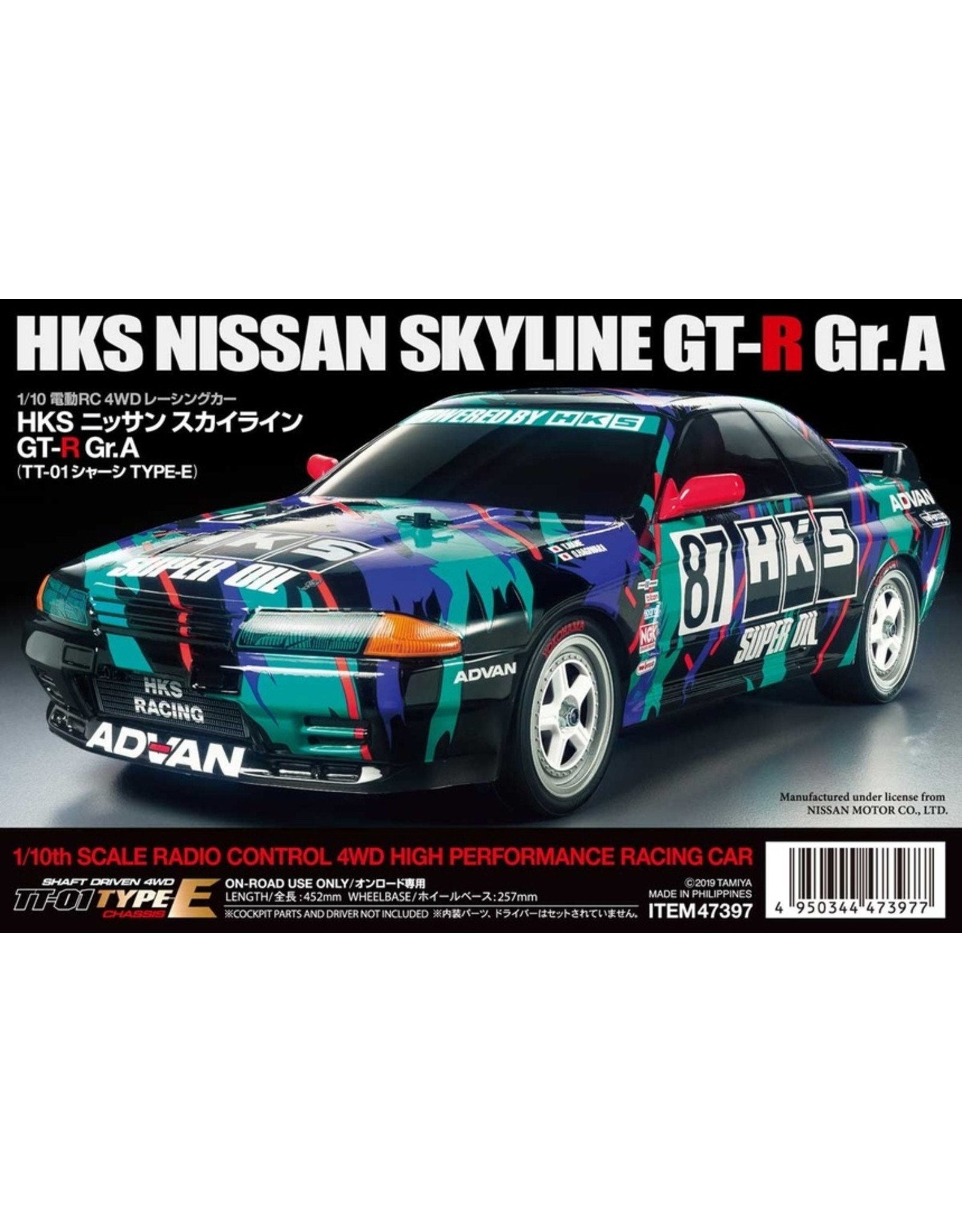 Tamiya 1/10 - Nissan Skyline Gt-R GR.A - TT-01 Type-E Chassis Kit
