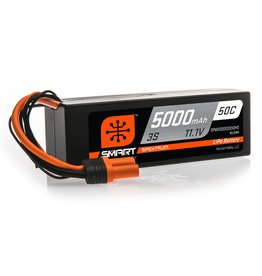 Spektrum SPMX50003S50H5 - 11.1V 5000mAh 3S 50C Smart Hardcase LiPo Battery: IC5