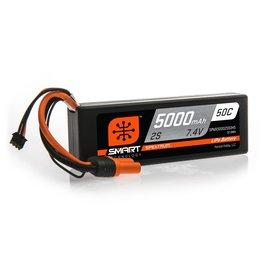 Spektrum SPMX50002S50H5 - 7.4V 5000mAh 2S 50C Smart Hardcase LiPo Battery: IC5