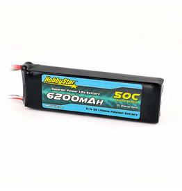 HobbyStar 11.1v 6200mAh 50c Lipo Battery (Fits E-Revo 2.0)