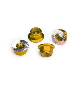 """HobbyStar HobbyStar """"Gripper"""" Aluminum Lock Nut, Serrated, 4MM (4)"""