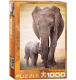 Eurographics Elephant and Baby - 1000 Piece Puzzle
