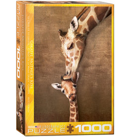 Eurographics Giraffe Mother's Kiss - 1000 Piece Puzzle