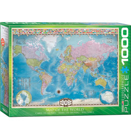 Eurographics Map of the World - 1000 Piece Puzzle